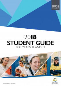2018 Student Guide for Years 11 and 12 Cover
