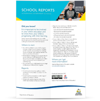 Image of School Reports in Tasmanian Government Schools Factsheet